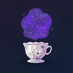 Tea cup for Tea Cups, Illustrations, Photo And Video, Instagram, Illustration, Cup Of Tea, Illustrators