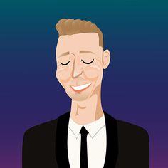 """Tom Hiddleston"" Selfie Project by Renee Arabia, via Behance"