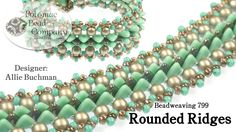 """This video taught by Potomac Bead Company co-founder Allie Buchman teaches you how to make her """"Rounded Ridges"""" bracelet, using RounDuo beads, CzechMates 2-h..."""