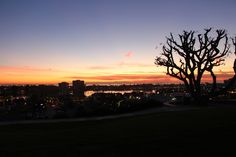 Beautiful sunset overlooking Newport Harbor in Newport Beach