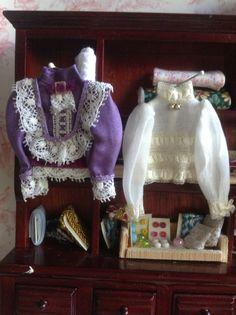 Dollhouse victorian Eduardian blouse 1/12 by PilarCalleMiniatures, €13.00