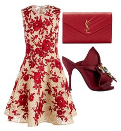 Red by carolineas on Polyvore featuring polyvore, fashion, style, Naeem Khan, N°21, Yves Saint Laurent and clothing