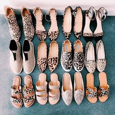 """""""Who doesn't love leopard print? I think it essential for every woman to have a pair of leopard print shoes in her closet because you can… Trendy Shoes, Cute Shoes, Me Too Shoes, Dream Shoes, Crazy Shoes, Shoe Boots, Shoes Heels, Flats, Leopard Print Shoes"""
