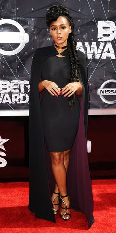 Janelle Monae in SAFiYAA- BET Awards 2015 Red Carpet Arrivals | InStyle.com