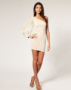 Adorable One Sleeve Dress... $38!! http://pinterest.com/pin/271693789989634556/