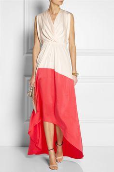 Vionnet - Two-tone silk-blend gown. Abiti Da ... c4f1f93516c