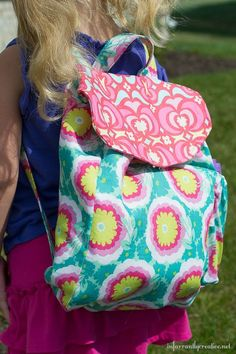 Tutorial for a DIY child's backpack. AWESOME, I'm so gonna make this- when i get a weeks worth of alone time lol