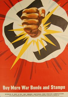 During World War II, countries at war tried hard to instill a strong sense of patriotism in their citizens, encouraging them to work efficiently, support their governments with money and materials, and stay hopeful for victory. The advertisements, cartoons, movies, and other media designed to influence the national mood are called propaganda.  	Here is a sample of propaganda posters from World War II, designed to produce an emotional response in their viewers.  	Try to get in the mindset of…