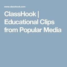 ClassHook Helps Teachers Use Television Clips in Their Classroom - Class Tech Tips Ap Literature, Teaching Literature, Teaching Activities, Teaching Tips, Teaching Strategies, Educational Videos, Educational Technology, Ap Language, 6th Grade Science