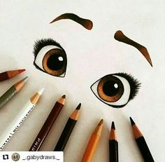 Coloriage yeux - dibujos a lapiz Pencil Art Drawings, Art Drawings Sketches, Disney Drawings, Cute Drawings, Cute Eyes Drawing, Disney Style Drawing, Sketch Drawing, Amazing Drawings, Beautiful Drawings