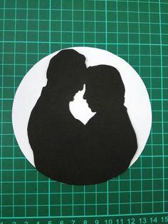 Shilouette/couple/diy