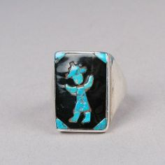 Inlay dancer ring c. 1940's