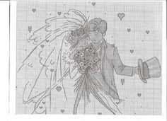 Wedding Couple - 4/4 PUNTADITAS (pág. 221) | Aprender manualidades es facilisimo.com