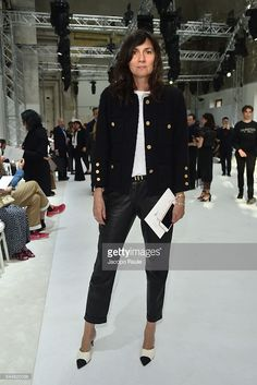 Emanuelle Alt attends the Giambattista Valli Haute Couture Fall/Winter 2016-2017 show as part of Paris Fashion Week on July 4, 2016 in Paris, France.