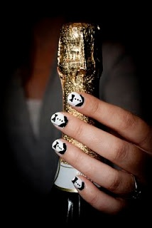 new tux nail design that goes with mustache