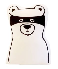 This lovable character is more a big softie then a bandit. Perfect as a cushion on the bed or for cuddles. Snuggle up for warm fuzzies… 25cm at the widest part, 33cm high Hand screen printed on both sides 100% cotton with polyester filling Made in New Zealand