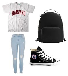 """""""i only do ivy leagues😉"""" by lullolo ❤ liked on Polyvore featuring River Island, Converse and MANGO"""