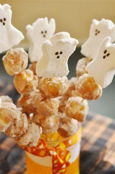 Halloween Doughnut Skewers  @yourhomebasedmom.com