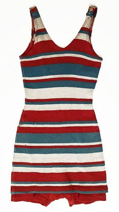 Bathing suit  Date: ca. 1930 Culture: American (probably) Medium: wool    Stripes!