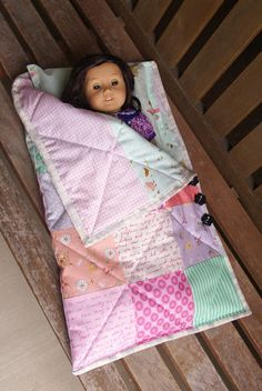 American Girl doll sleeping bag and pillow