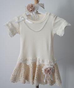 Santorina Crochet Playsuit Dress + Matching Headband