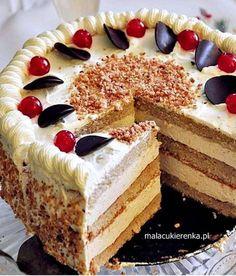 Polish Desserts, Polish Recipes, No Bake Desserts, Delicious Desserts, Sweet Recipes, Cake Recipes, Dessert Decoration, Dessert Bread, Sweet Cakes