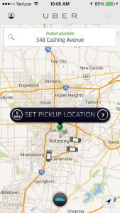 Dayton has Uber. First time? Use promo code FA2RX for a free ride.  (most non-game activities are very close, but not all are walkable)