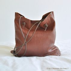 DIY leather bag tutorial