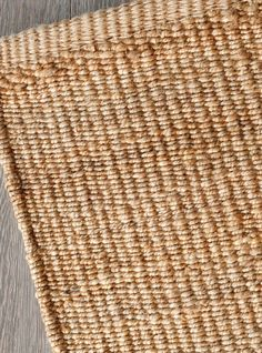 Nest Weave in Natural - with natural turnover | Armadillo: http://armadillo-co.com/item-category/rugs/