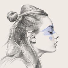"""bated breath"" // sketch portrait drawn by Evgeni Koroliov artist from Belarus Pencil Sketch Portrait, Pencil Drawings, Art Drawings, Portraits, Illustration Artists, Fashion Illustrations, Drawing People, Medium Art, Mixed Media Art"