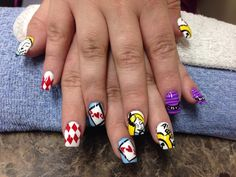 Alice and wonderland nails
