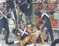 Bataille la Rothière 29janvier 1814 Street fighting: French light infantry vs Russians