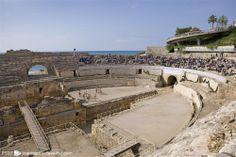 L'amfiteatre romà a Tarragona (Catalonia)