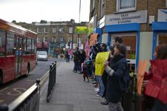 flashmob welcoming people to Loughborough Junction - The House in The Junction - London, U.K.