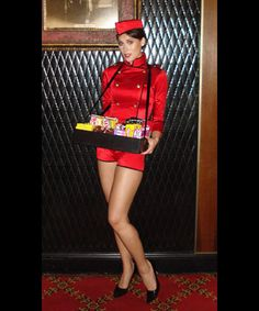 Movie Candy Vendor, but the wait staff wearing Black Jeans, white shirt with a colored suspenders and bow tie. Las Vegas, Girl Costumes, Halloween Costumes, Party Costumes, Halloween Movies, Costume Ideas, Casino Theme Parties, Party Themes, Casino Party