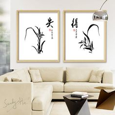 Original Flower Chinese Painting/Orchid Chinese by SandyHeCube
