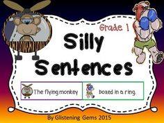 Your student will LOVE creating and writing silly sentences! Great activity to incorporate into your kindergarten, grade and grade: Daily 5 activities, literacy groups, literacy centers or stations, or as an independent activity! Daily 5 Activities, Grammar Activities, Kindergarten Activities, Writing Activities, Summer Activities, Sentence Beginnings, Silly Sentences, Literacy Centers, Early Literacy