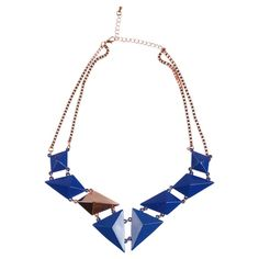 Multifaceted Necklace Blue