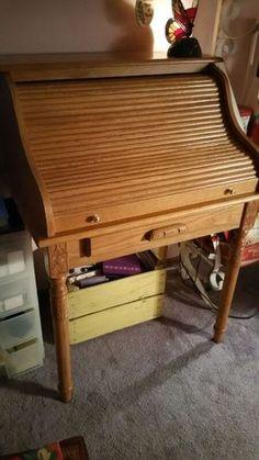 Oak Roll Top Desk in Crown Point, IN (sells for $60)