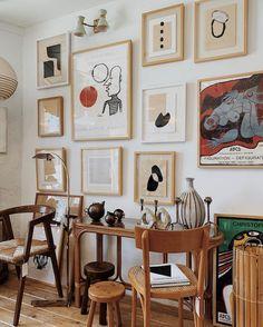 my scandinavian home: California Meets Scandinavia In A Cosy LA Home / gallery wall in brown tones