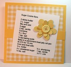 Sugar Cookie Bars with Buttercream Frosting recipe card
