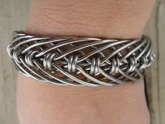 men's stainless steel hand bent wire woven wide by cricketcapers