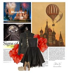 """""""[...] in Moscow"""" by crazydita ❤ liked on Polyvore featuring Anya Hindmarch, By Terry, AllSaints, Oh My Love and Christian Louboutin"""