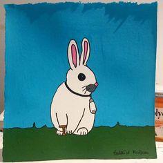 "Bunny ""Bruno"" & his luck paw. 🐇🐰 shop.federicomonzani.com #drawing #draw #illustration #illustrator #painting #picture #paint #colorful #visualart #luck #Lucky #paw #rabbits #rabbit #Bunny #bunnybruno #graphic #contemporaryart #gallery #paper #handmade #graphic #nature #animal #design #creative #art #artwork #arte #artsy #instaart"