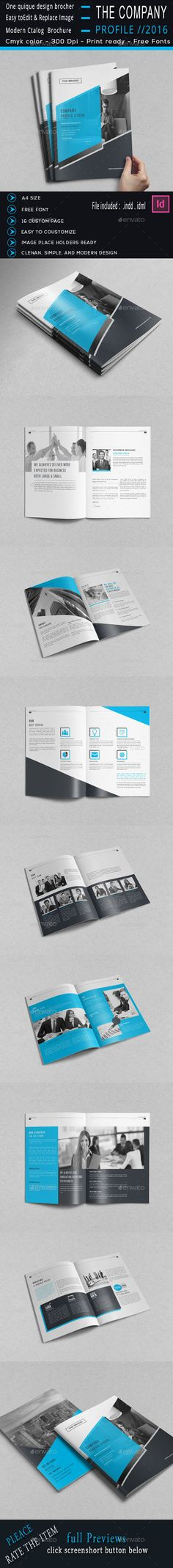 Brochure Description:The Company Profile Brochure Template that is super simple to edit and customize with your own details!Corpo
