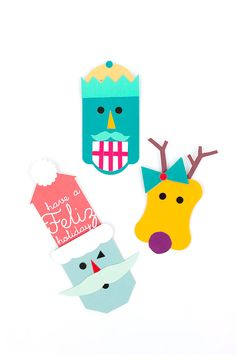Make the holidays merrier with these super fun DIY pop up gift tags!