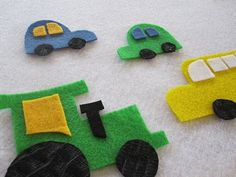 Felt mat. Wish I would have saw this before all our traveling! I think the kids would dig it.