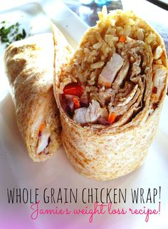 Whole Grain Chicken Wrap! Jamie's Weight Loss Recipes!