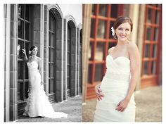 bridal portrait photo session of Chelsey Seufer in the Las Colinas Canals by Dallas wedding photographer Stacy Reeves
