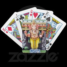 #Ganesha #God #Statue #Playing #Cards © #Bluedarkat - on #Zazzle!